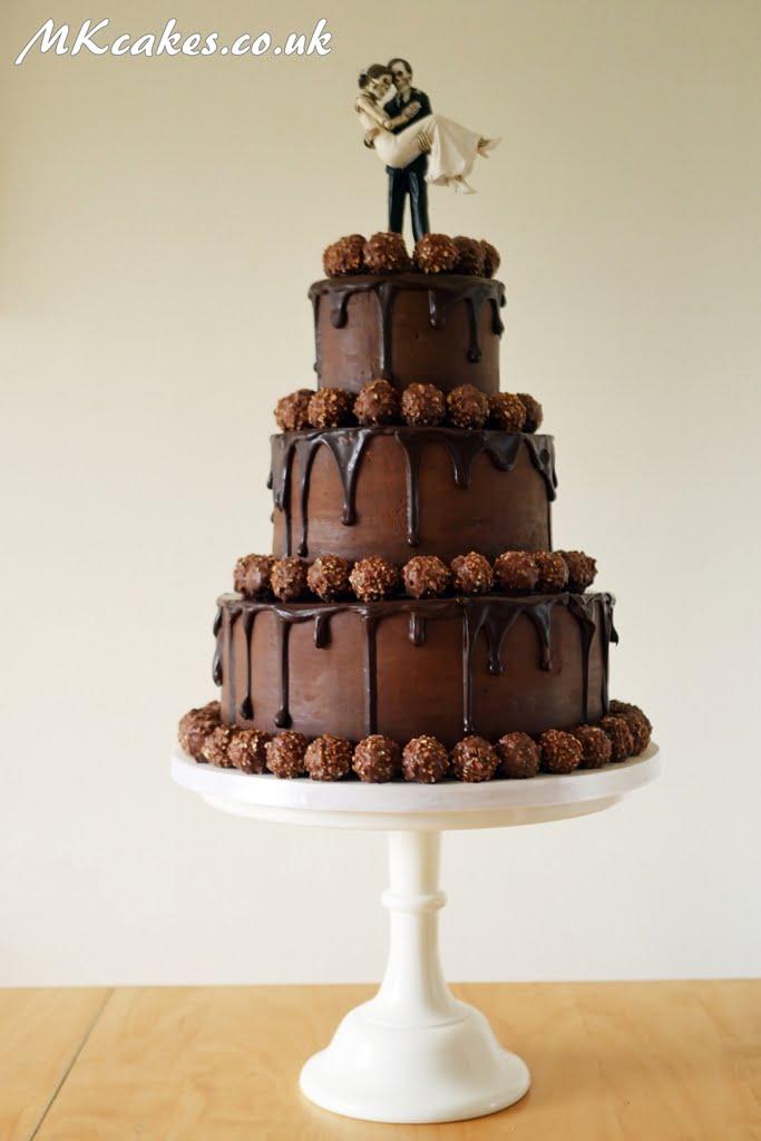 Ferrero Rocher Dripping Wedding Cake