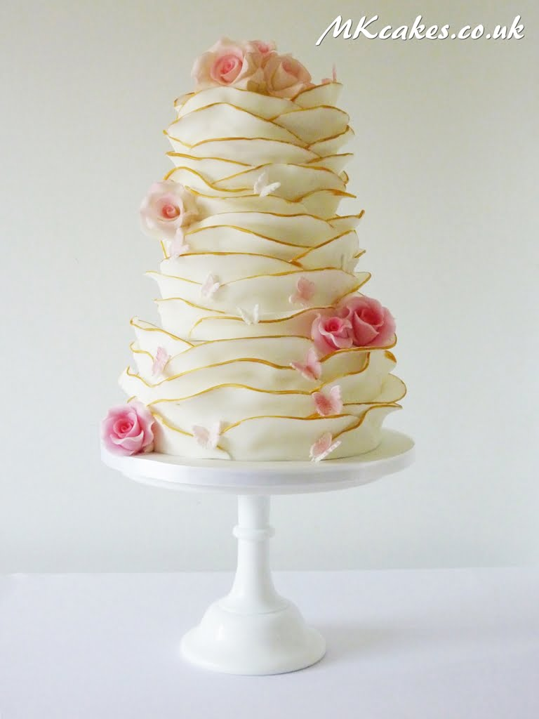 Gold Wrap Wedding Cake