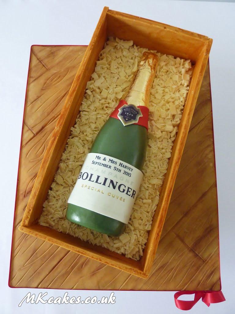 Bollinger bottle Cake