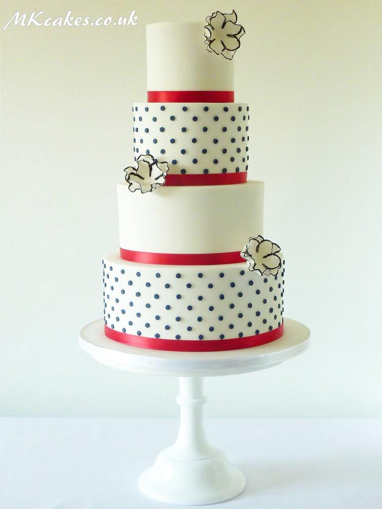 Modern Polka Dots Wedding Cake