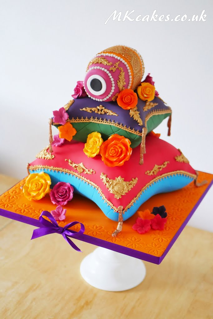 Pillows and Dholak Drum Mehndi Cake