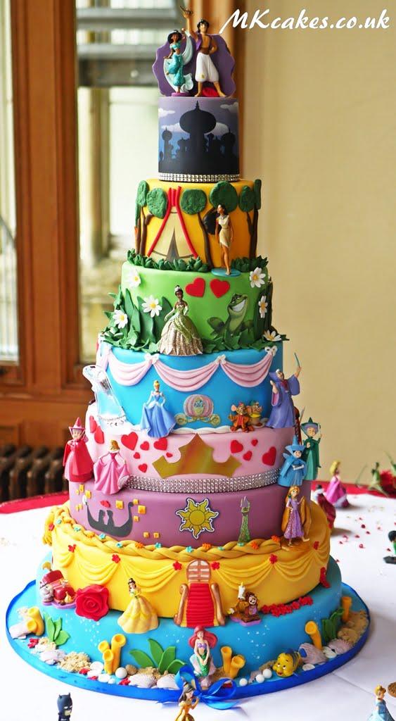 Avengers and Princesses cake